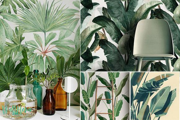 De interieurtip: Tropical wallpaper